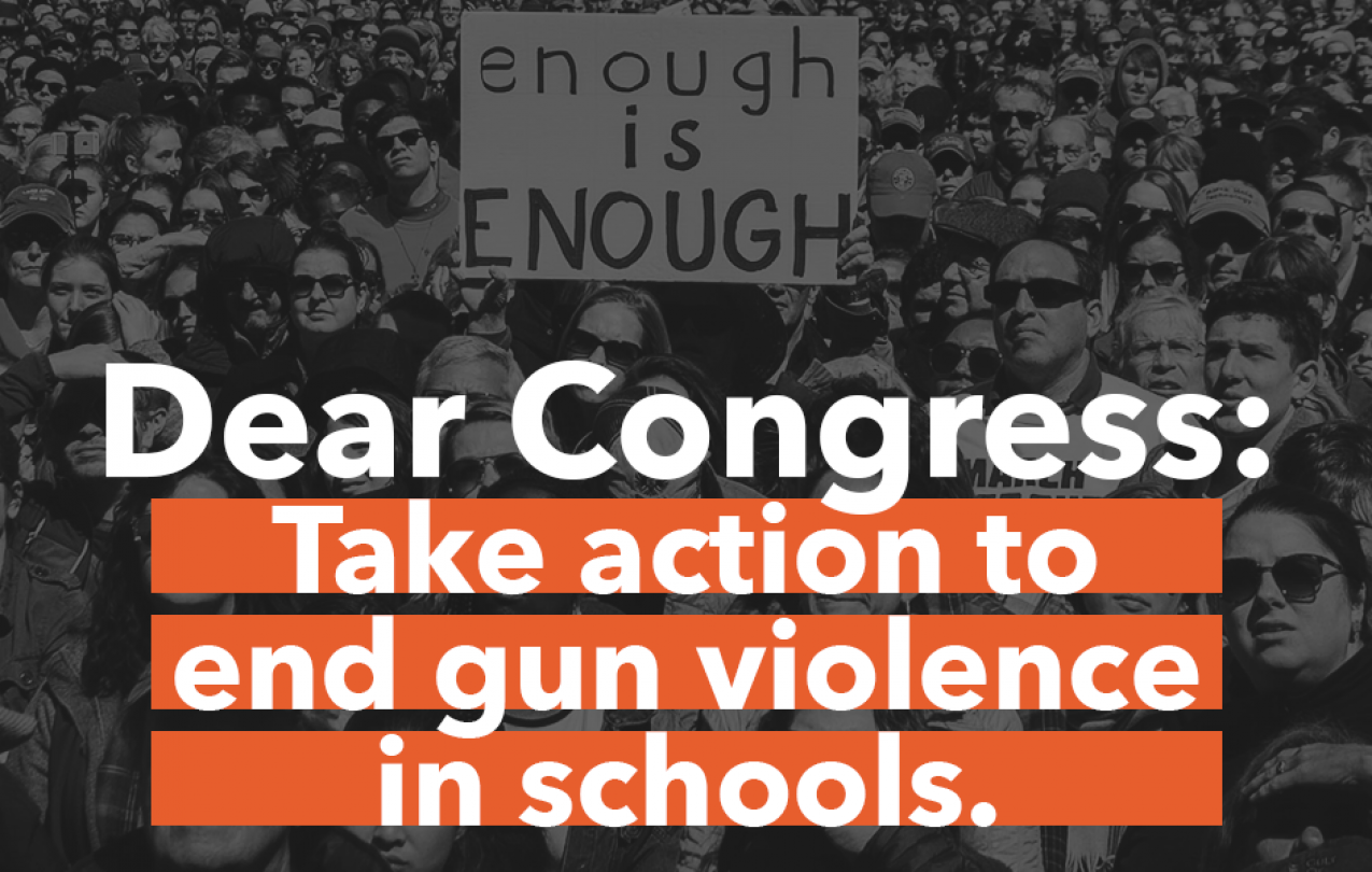 tell congress to end gun violence in schools now picture