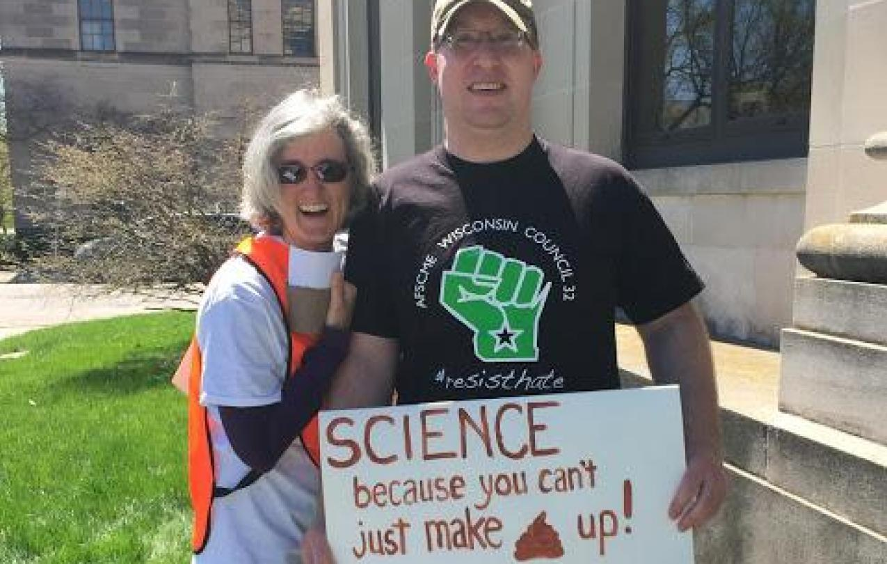 Photo of March for Science sign