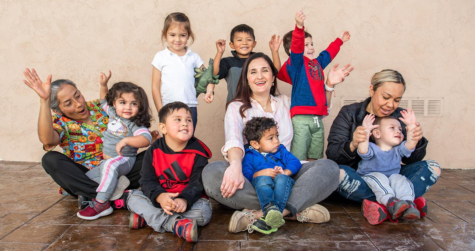 Childcare workers  and children
